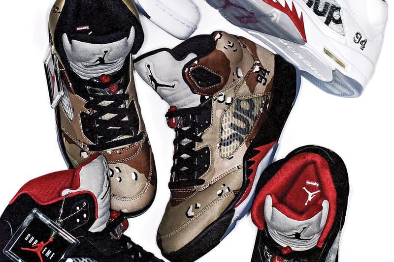 detailed look 3703b 9891c Supreme x Air Jordan 5 via SHOES MASTER | HYPEBEAST