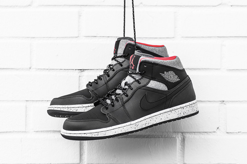 cd5da752426 Air Jordan 1 Mid Black Dark Grey Infrared 23 Sneaker | HYPEBEAST