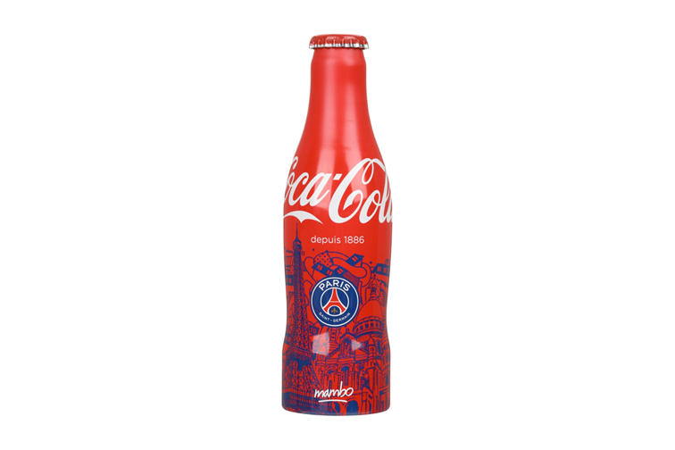 cf52802c8e5 Parisian artists and the city's flagship football club link up with Coca  Cola.