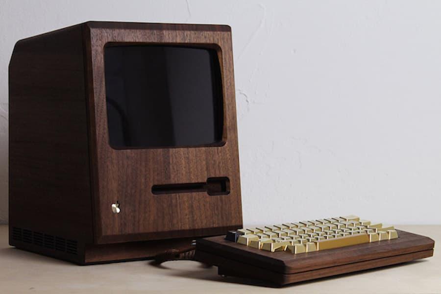 "Love Hultén's ""Golden Apple"" Recreates the 1984 Macintosh in Walnut Wood"