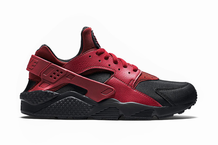 10ade44f4af Nike Air Huarache Run Premium Black Gym Red