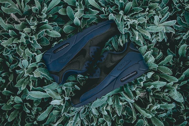 d6cb173436a72 Nike Air Max 90 Winter Premium Squadron Blue Black | HYPEBEAST