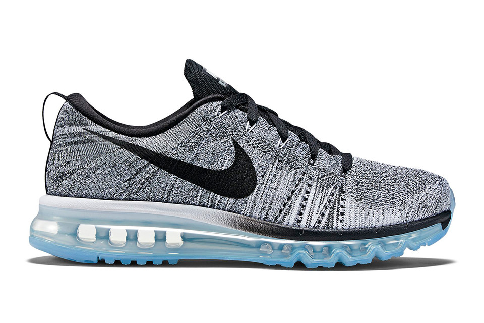 sports shoes c1050 e766f Nike Flyknit Air Max White Cool Grey Wolf Grey Black
