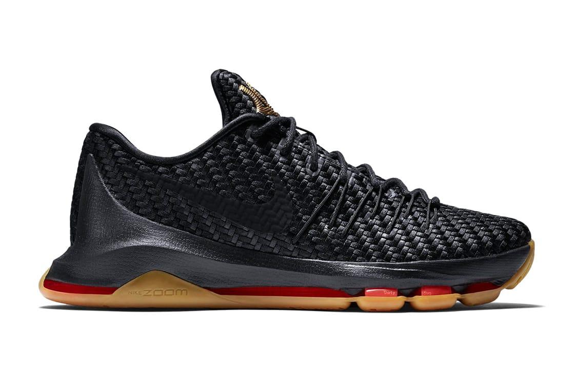 Nike KD 8 Black Gold Woven Sneaker