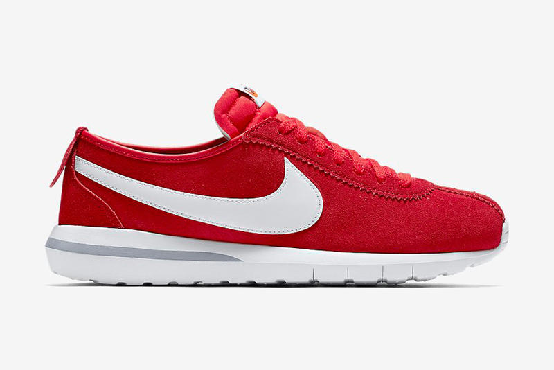 Bright red suede for the Roshe x Cortez hybrid. a1798cf10200