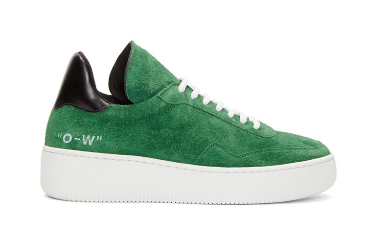 22c38f8436b106 Off-White™ c o VIRGIL ABLOH WMNS Green Suede Meadow Sneaker