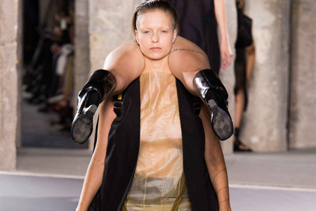 Rick Owens Sends Human Backpacks Down the Runway