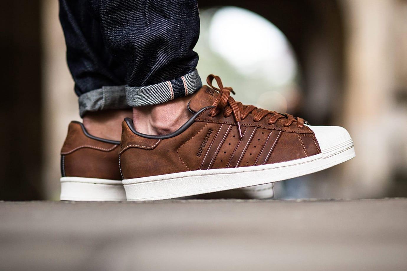 adidas superstar brown
