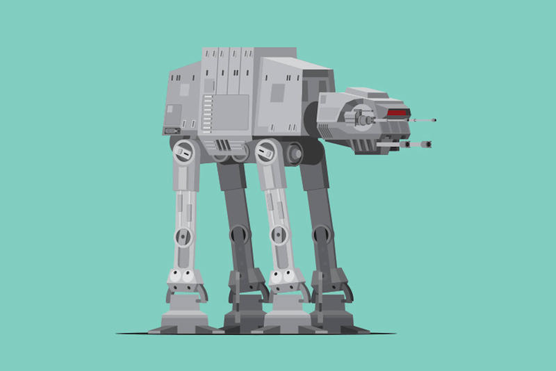 The Vehicles of 'Star Wars' Are Reimagined in Minimalist Form in These Illustrations