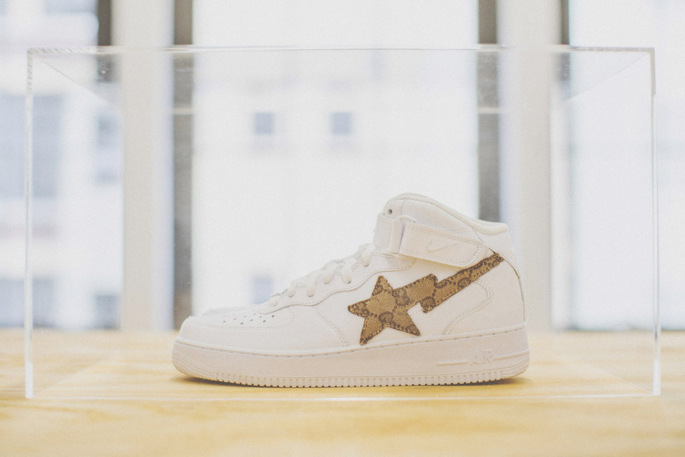 2511695fb5d0c7 Nike Air Force 1 Gucci BAPE Heron Preston Street Sweepers Sneakers ...