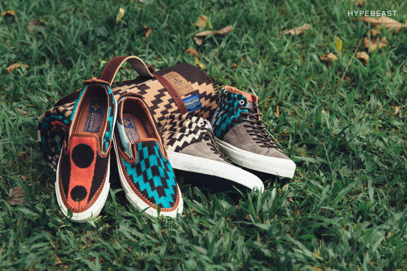 d03f846fce Matching moccasin-styled blankets and slip-ons made of fine Pendleton wool.