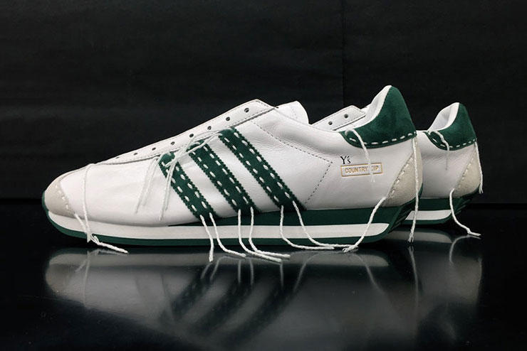 c659f92e4 Y s by Yohji Yamamoto x adidas Country Zip. The retro sneaker receives a  high-fashion update.
