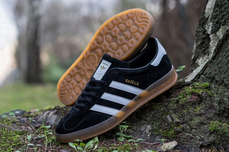 innovative design fb951 62e20 adidas Originals Gazelle Indoor Black White. A classic design executed to  perfection. Footwear Dec 7, 2015