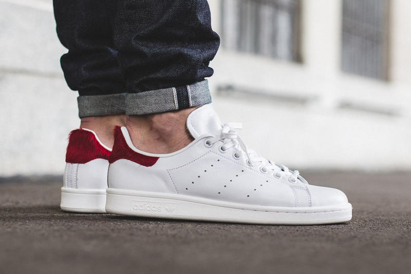 online store 047f2 d7f12 adidas Originals Stan Smith Vintage White Red Pony Hair ...