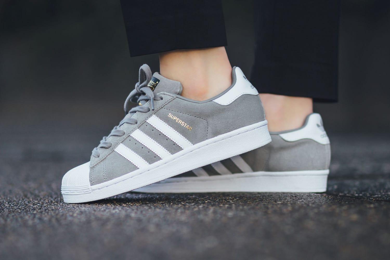 superstar adidas grey