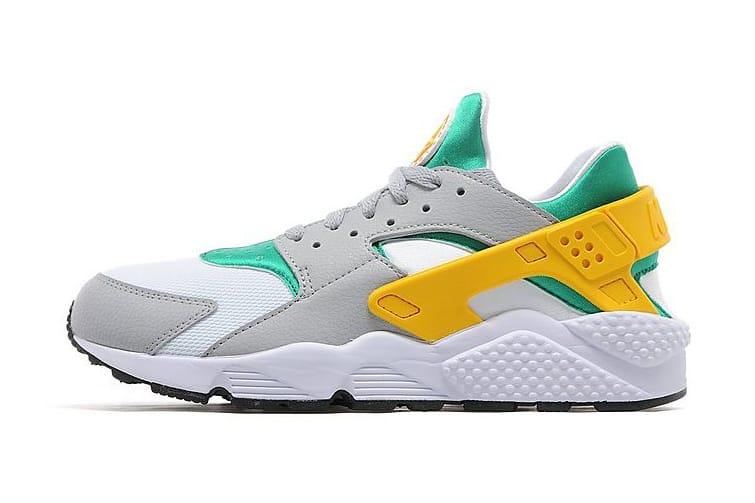 Nike Air Huarache Green White Gold Grey