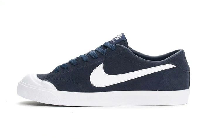 ... Innovative Nike All Court 8 EIS Mid Blue Canvas Colorway shoes  The  tennis-inspired skate shoe gets a sleek 463694065768