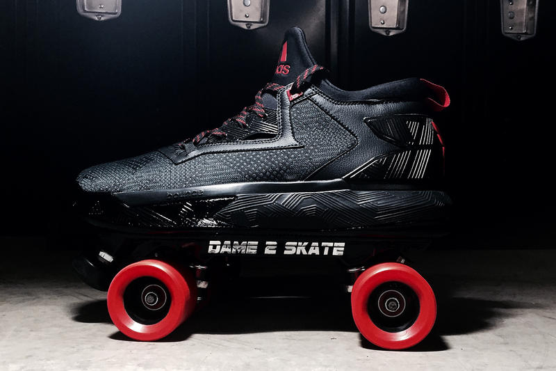 buy online 68842 2cfa6 adidas Gifted a Rollerskate Version of the D Lillard 2 to Damian Lillard