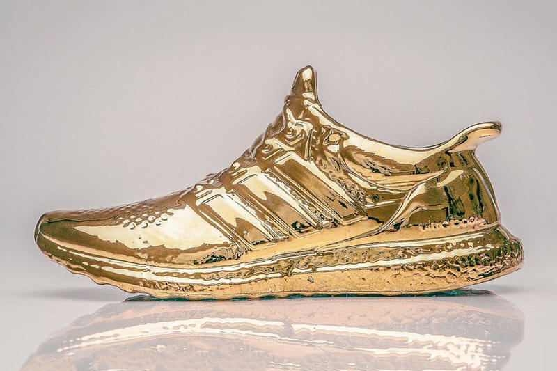 f42414ba2fc7c Artist Lee Chun Gold Ceramic adidas Ultra Boost Sneaker Sculptures ...