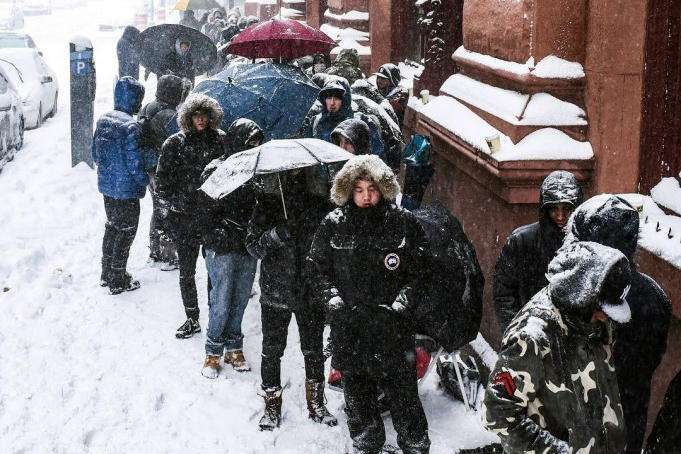 huge discount 41627 3d9b7 Sneakerheads Withstood a Blizzard for the KITH x adidas ...