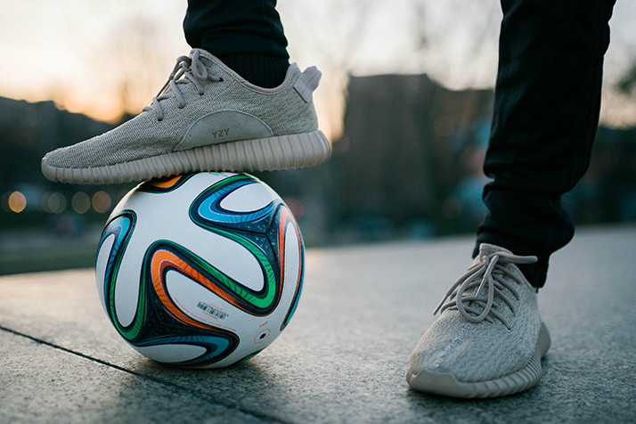 da77a6f576a Freestyle Football Wearing the Yeezy Boost