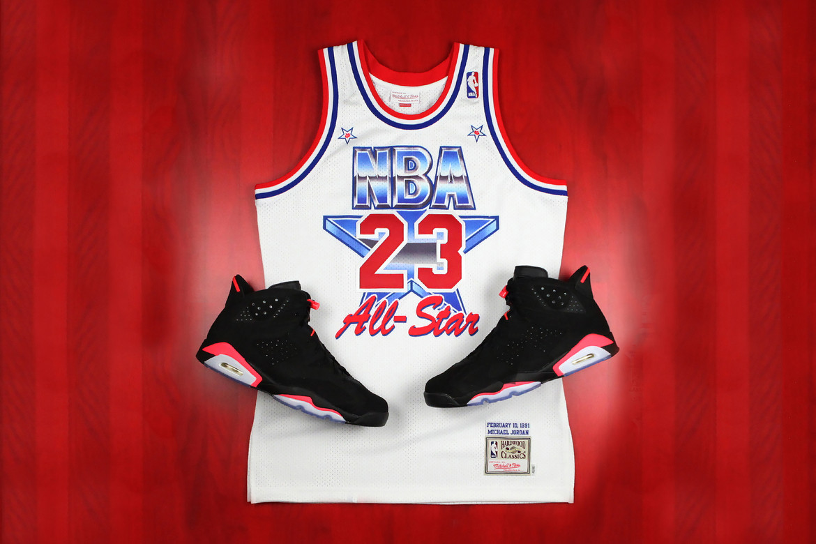 premium selection 42a7b 7dcfe Mitchell and Ness Michael Jordan 1991 All Star Jersey ...
