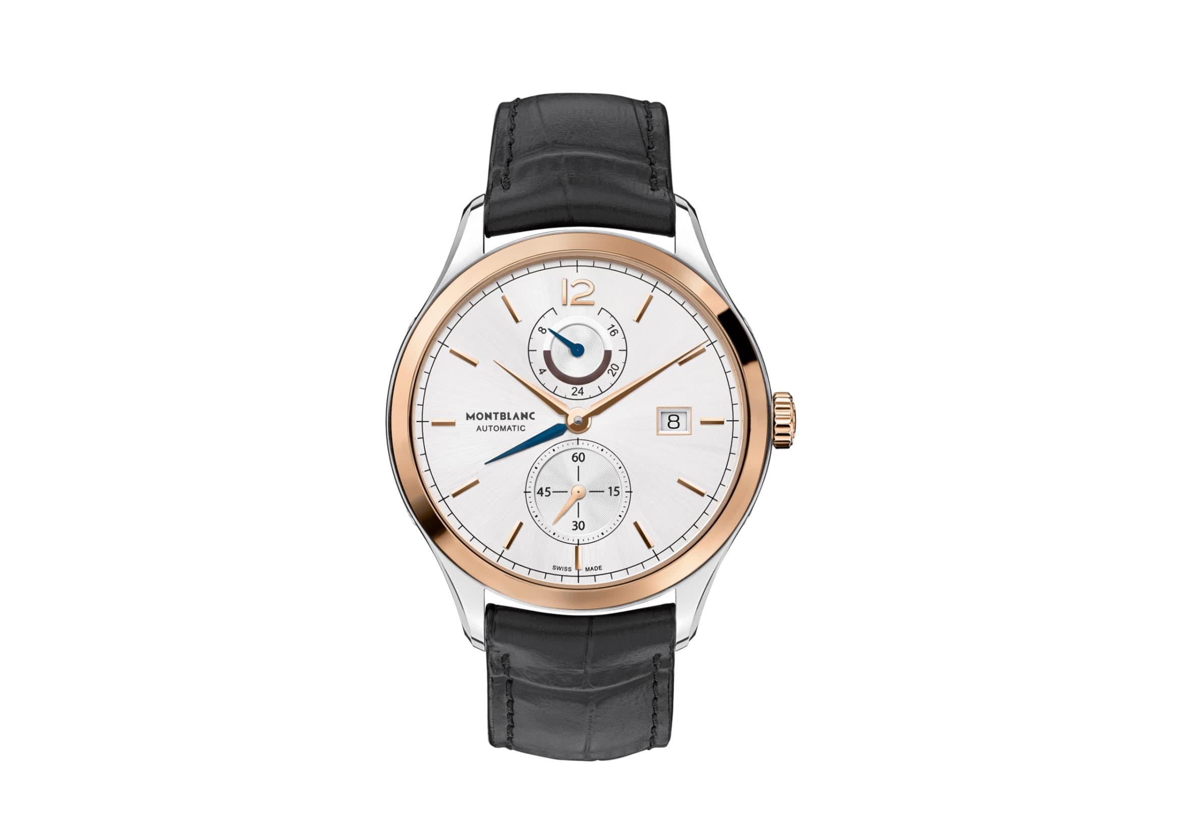 Montblanc Heritage Chronométrie Dual Time Watch with Golden Bezel