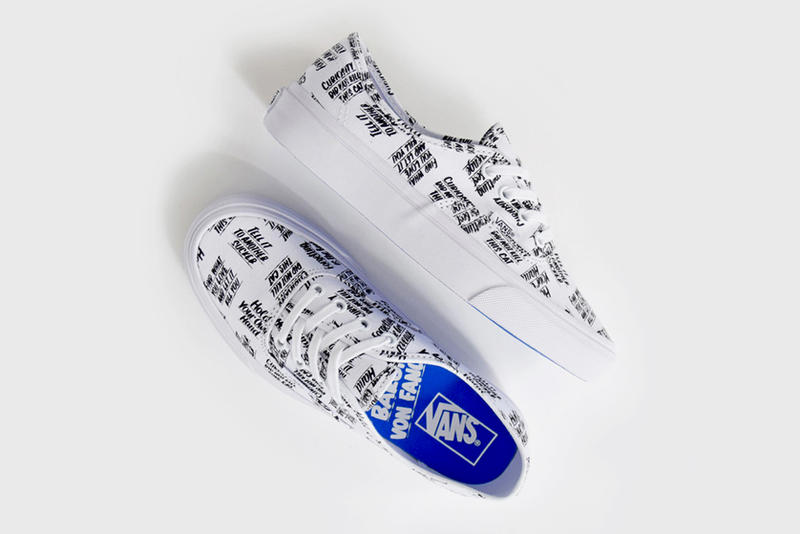 "ea2023617d Vans Enlists Artist Baron Von Fancy for New Authentic Collaboration.  Apparently ""Curiosity did not kill the cat."""
