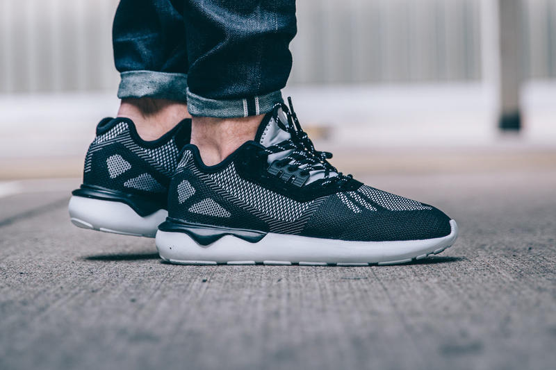 premium selection 076de caa8e adidas s Tubular Runner Weave Mixes Black   White for an Interesting  Contrast