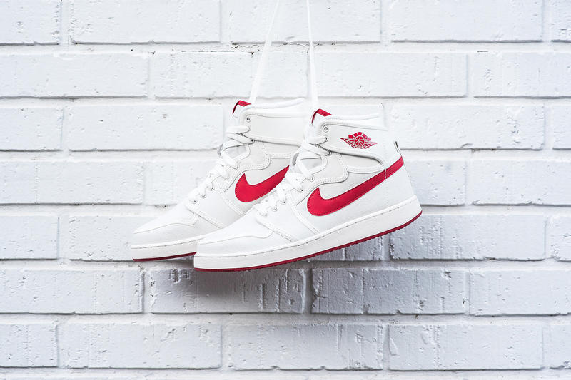 new style 7b677 d9f87 ... Retro KO High OG Sail Varsity Red. A clean look for the canvas Jordans.