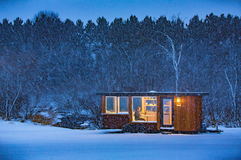 Escape to a Private Space With This Cozy Portable Cabin