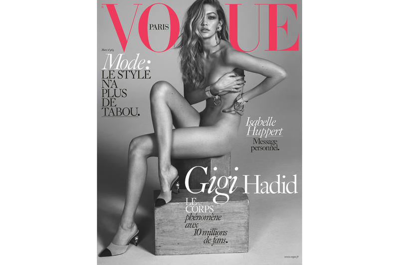 3d89120bc506 Gigi Hadid Poses Nude for the Cover of French  Vogue