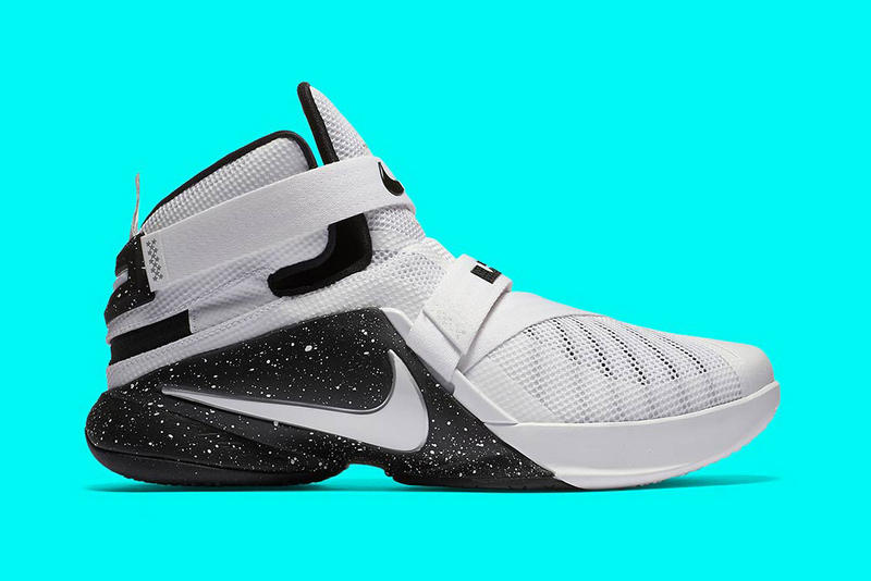 on sale bbc3d fb04f Nike LeBron Soldier 9 Flyease Black White Sneakers   HYPEBEAST