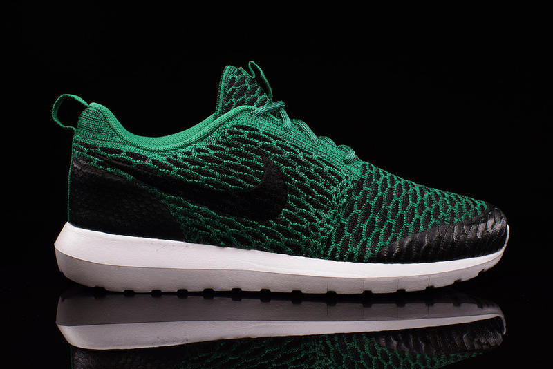 watch d5296 c6fc9 Nike Outfits the Roshe NM Flyknit in Emerald Green