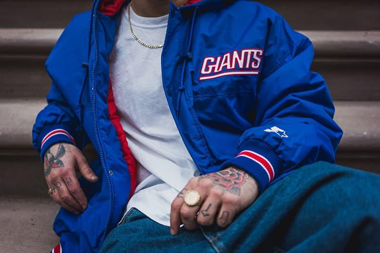 finest selection eb216 f8e4a Packer Starter New York Giants Parka | HYPEBEAST