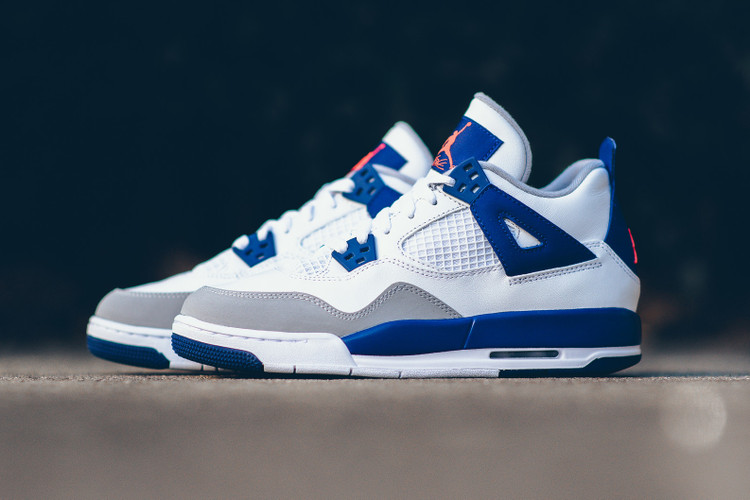 online store 970d0 4eb48  hypebeastkids  Air Jordan 4 Retro GG White Hyper Orange-Deep Royal Blue