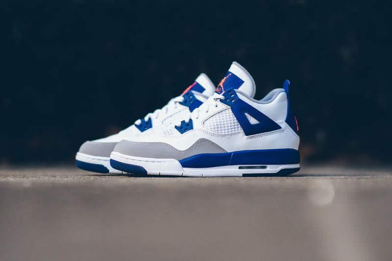 12af9a0e0c8c  hypebeastkids  Air Jordan 4 Retro GG White Hyper Orange-Deep Royal  Blue-Wolf Grey