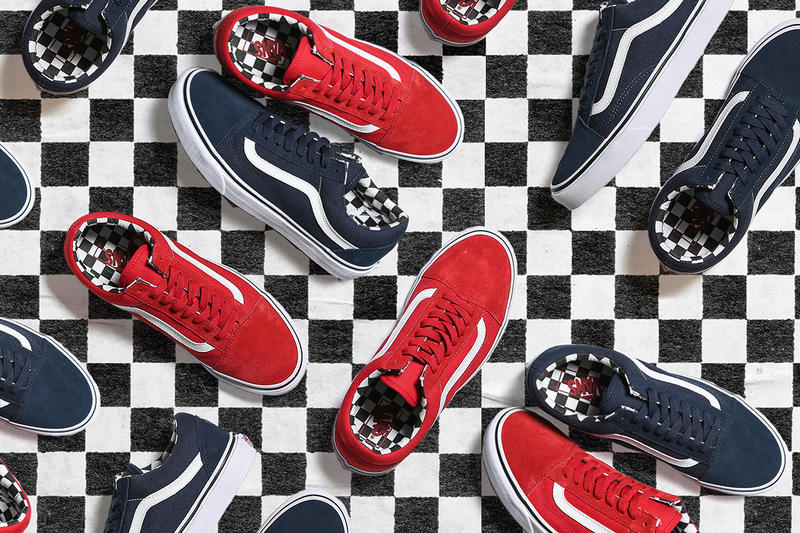 b8011df4d0 JD Sports   Vans Link up for a Special 50th Anniversary Pack. Old Skools  and Sk8-His in red and blue.