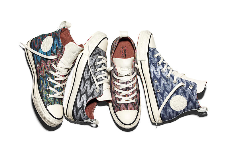 33e371926a10 Converse   Missoni Employ Bold Zigzags as They Reunite for Spring. ""