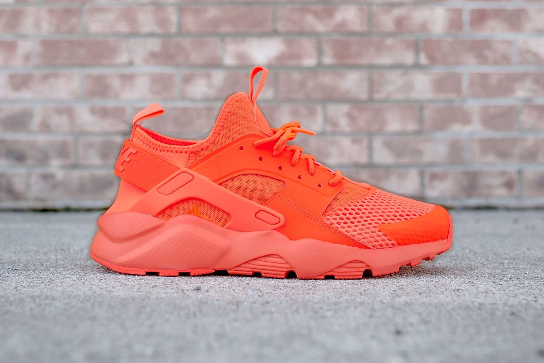nike huarache pink orange