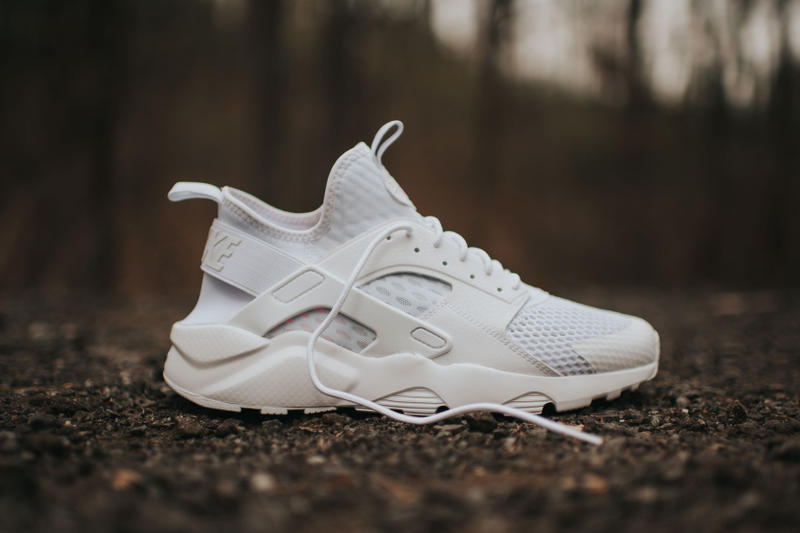 913506bd972 Nike Air Huarache Run Ultra BR Triple White Sneaker