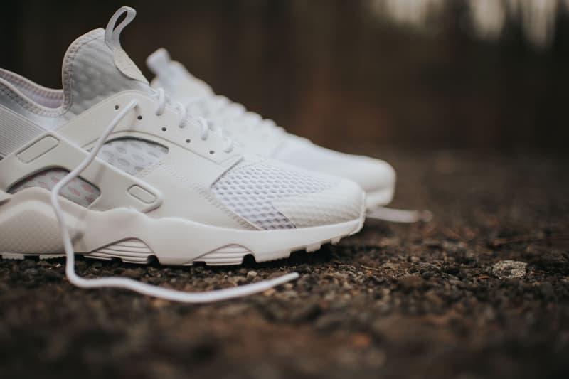 purchase cheap 3d5cd 6ea3f Nike Air Huarache Run Ultra BR Triple White Sneaker  HYPEBEA