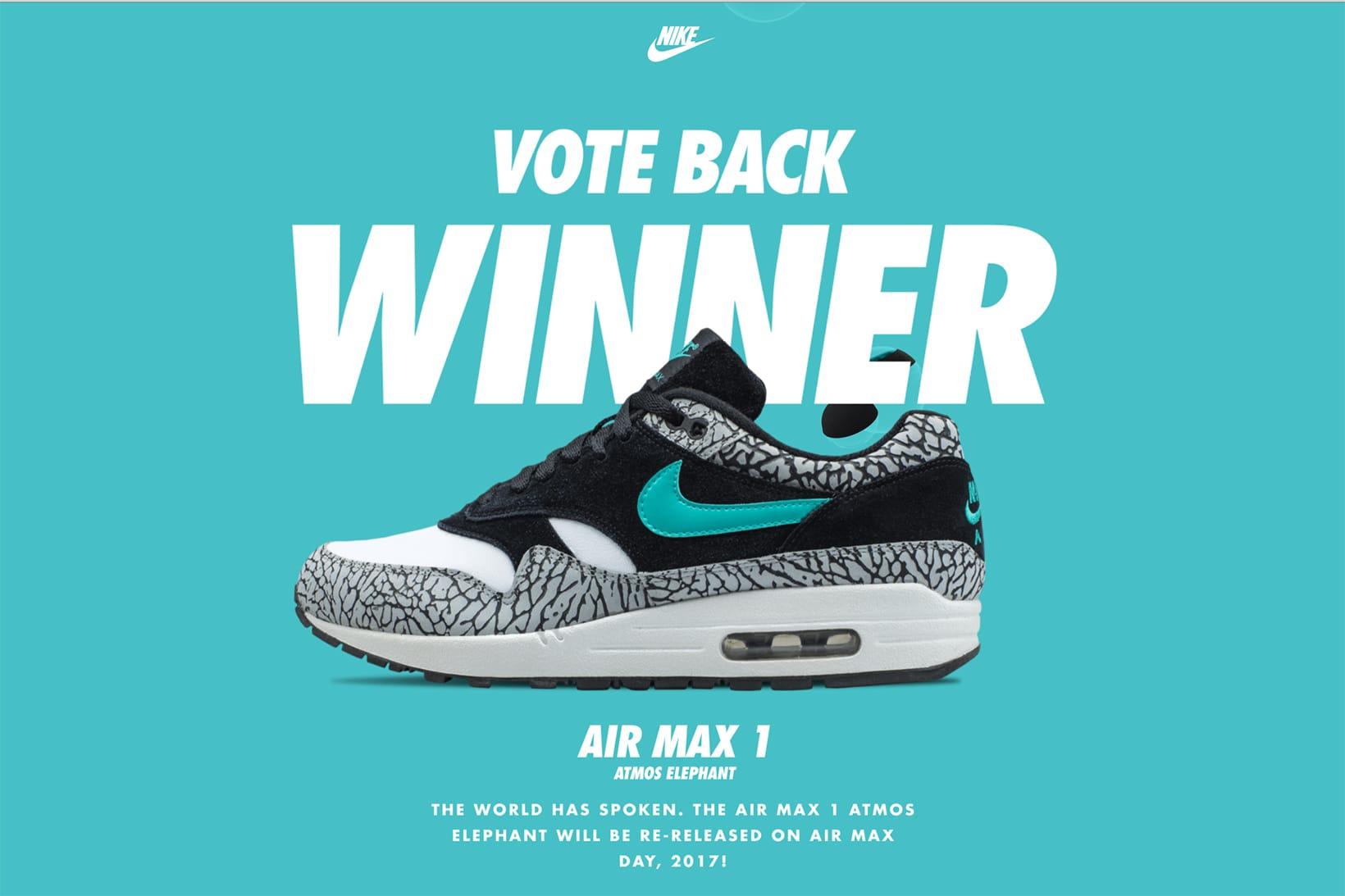 atmos x nike air max 1 elephant wins vote back hypebeast rh hypebeast com