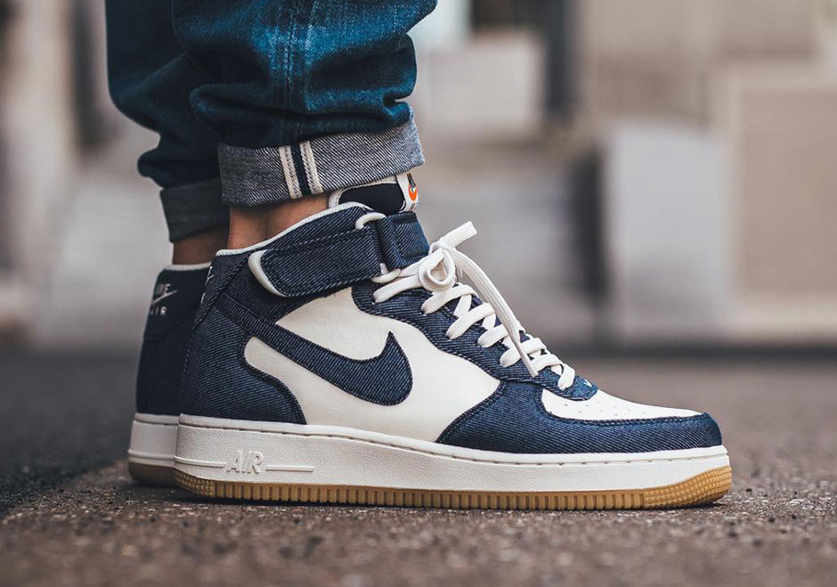 official photos 15f1d 8621d Nike Air Force 1 Mid Denim Sneaker   HYPEBEAST