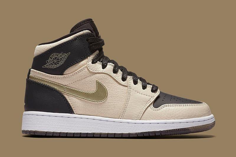82dada256b52 Air Jordan 1 Retro High Premium Pearl White and Metallic Gold ...