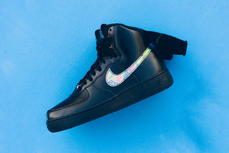 premium selection bcdaa e62d9 Nike Air Force 1 High 07 LV8 Black Metallic Gold Sneaker ...