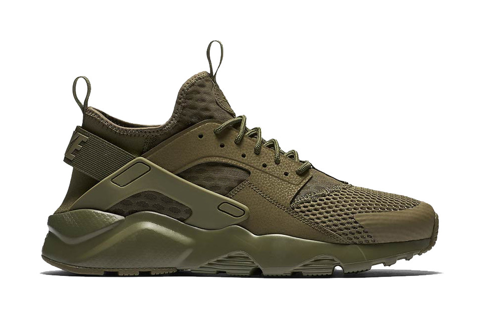 00d2187b2946 The Nike Air Huarache Run Ultra BR Channels Military Inspiration. The  Swoosh takes cues from the iconic MA-1 ...