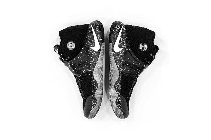 b8715a6167b0 Nike s Kyrie 2 Gets a Black Speckled Makeover for EYBL Season. Basketball  ...