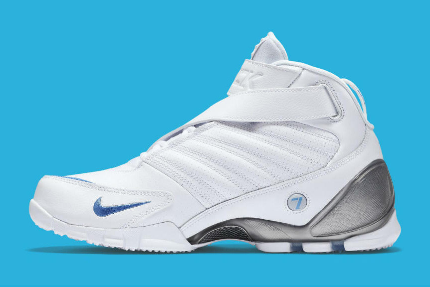 Nike Zoom Vick 3 In White and University Blue Sneaker  4cbe1d05b8422
