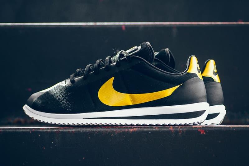 4b0dabff9f83 Nike Cortez Black Metallic Gold